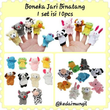 Boneka Jari Seri Binatang (Animal Finger Puppet)
