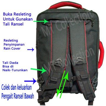 Polo Light NX Tas Ransel Daypak Original 100% Slot Laptop 14 Inch