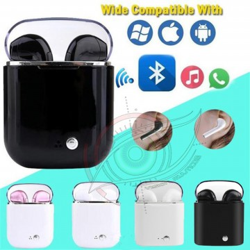Headset Bluetooth HBQ Twins i7S i9+ Wireless Earphones Stereo V4.2