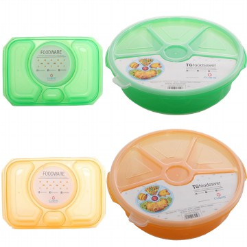 Lunch Box Kotak atau Bulat 1100 Ml Claris - Food Saver