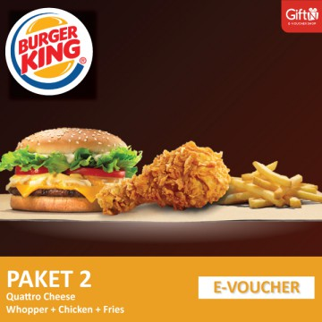 Burger King - Quatto Cheese Whooper + Chicken + Fries (R)