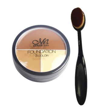 [Set] OVAL FOUNDATION BRUSH (KAK-65) + Menow Foundation Contouring and Concealer (KM-20)