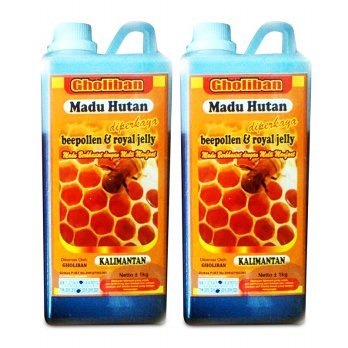 BUY 1 GET 1 FREE Madu Hutan Kalimantan Gholiban Plus Bee Pollen Dan Royal Jelly 1kilo