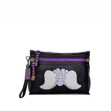 COACH Academy Pouch in Leather Featuring Dumbo