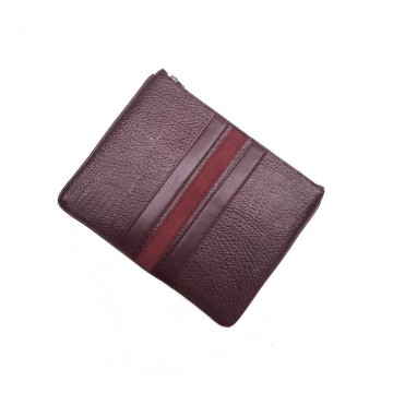 Authentic Coach pouch With Varsity Stripe - Maroon