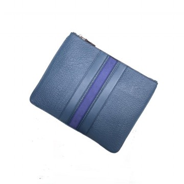 Authentic Coach pouch With Varsity Stripe - Blue