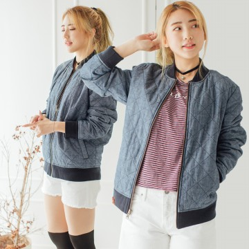 [S4 COUP] WOMEN BOMBER JACKET NAVY