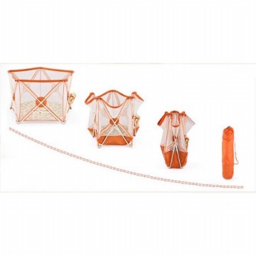 Twomother Hexagonal Portable Playard Playpen Orange Free VR Box