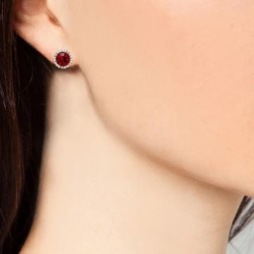 1901 Jewelry Anting Swarovski 6172 Red