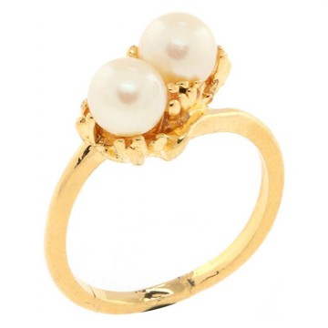 1901 Jewelry Two Pearl Ring CC151HR9