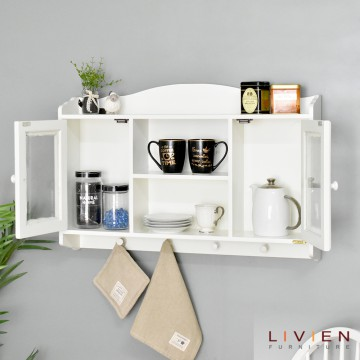 Rak Kaca French Series | Rak-Dingding / Rak-Gantung LIVIEN  Furniture