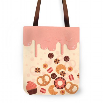Fashionable Exclusive Tote Bag Wanita dan Pria Design Icing Sugar