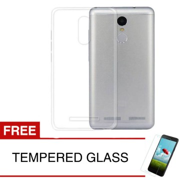 Crystal Case for Lenovo K6 Power - Clear Hardcase +  Gratis Tempered Glass
