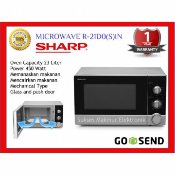 Microwave Sharp R-21D0(S)-IN Cap. 23 Lt, 450 Watt
