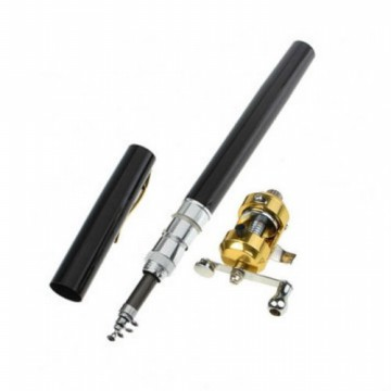 Mini FISHING ROD PENA PUPLEN Pancing Joran Pancing Mini Portable 1M 100CM Pen PulPen Alat Mancing
