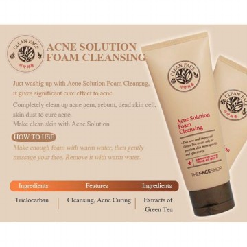 THE FACE SHOP Clean Face Acne Solution Foam Cleansing