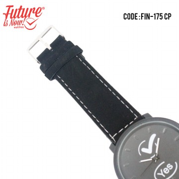 [1+1] Jam Tangan Couple analog  strap leather  FIN - 175CP