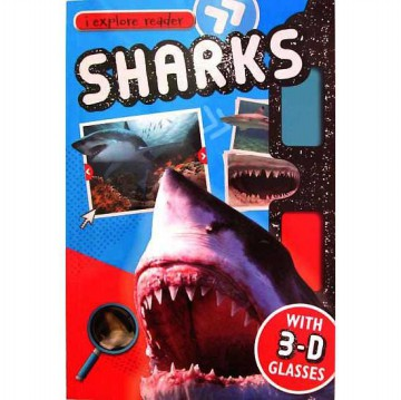 [Hellopandabooks] i-explore reader SHARKS with 3D glasses and cool 3D pictures