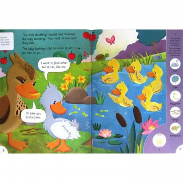 [HelloPandaBooks] The Ugly Duckling Phonic Readers Level 1 (Age 4-6 years) with 75 stickers