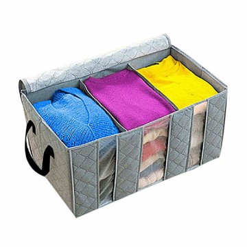 Tempat baju Fiber Storage Box Bamboo Charcoal Anti Bacterial - HPR002