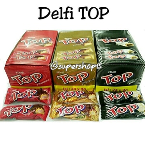 Delfi TOP Coklat Chocolate / Strawberry / Black in White (isi 24pcs)