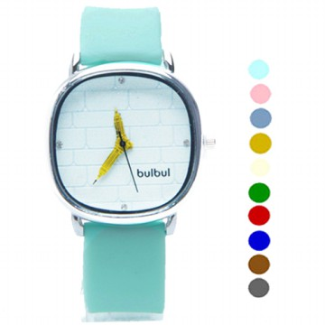 Bulbul Big Ben London Jam Tangan Fashion Wanita Menara |Round Analog Strap Rubber(FIN-07)