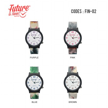 DeFollie Canvas Jam Tangan Fashionable Strap Berbahan Kanvas Round Analog Watches (FIN-02)