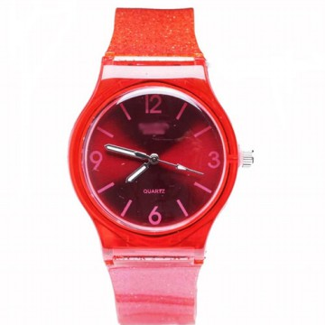 Jam Tangan Casual Unisex Watches  Fashion Glitter strap Rubber Type 6 [Fin 41]