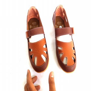 [PROMO] 2 Model Sepatu Flat Wanita Brown 012 MC | Flat Shoes Size 37-40