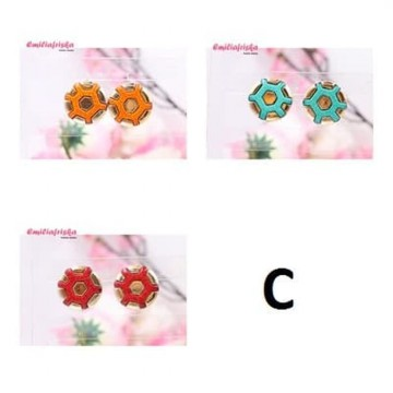 ANTING TUSUK KOREA UNIK AKSESORIS VINTAGE FASHION MURAH WANITA - Anting A