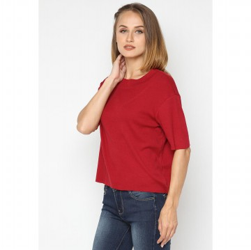 Mobile Power Ladies Turtle Neck T-Shirt - Maroon A127