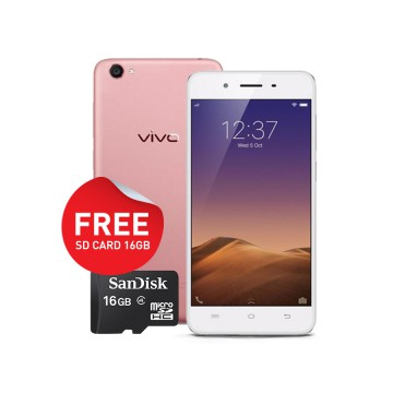 Vivo Y65 -  Rose Gold Free Micro SD Card 16GB + Tumbler