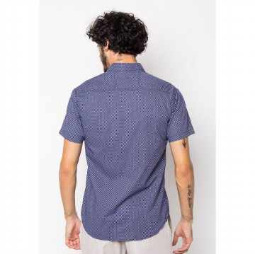 FBW Kemeja Kasual Pria Slim Fit Fashion Denim | Russel Button Down Shirt | Fitzroy Denim Shirt