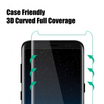 UME 3D Tempered Glass for Samsung S8 Plus / S8+ Curved Full Cover - Clear