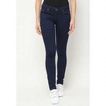 Mobile Power Ladies Basic Slim Fit Long Pants - Navy I2851L