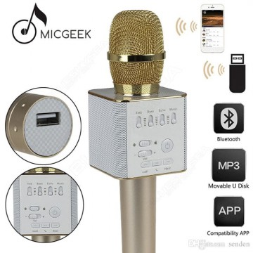 Mic Q9 Karaoke Bluetooth Wireless Microphone With Speaker Karaoke