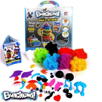 [Fun & Smart Games] Monster Bunchems Glow in the dark Creative Games with BiG pack UP to 400 pcs