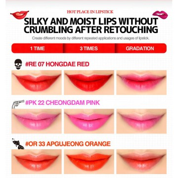 [MACQUEEN] NEWYORK Hot place in LIPSTICK (6 colors) / made in Korea