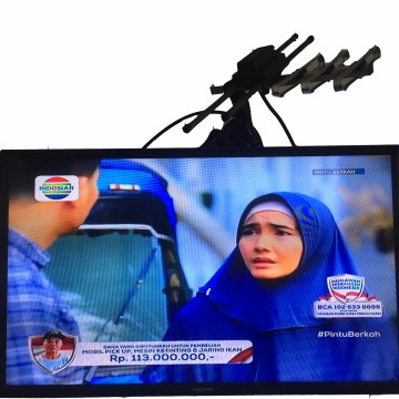 Antena TV indoor outdoor 2in1, HDTV ,High Signal UHF dan VHF, high quality connector bergaransi