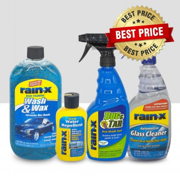 Paket27 Rain-X Wash & Wax, Bug & Tar, Glass Cleaner, Washer Fluid Adtv