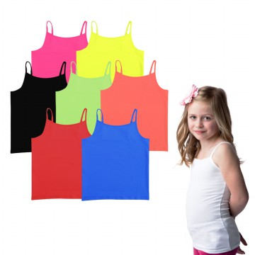 [FD] BRANDED CAMISOLE FOR GIRLS| 6 - 14 Years| Tank Top Anak Perempuan
