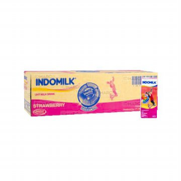 Indomilk UHT Stroberi 190 ml Isi 30 pcs