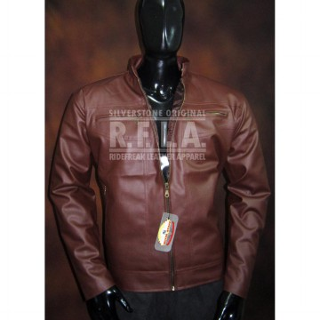 JAKET KULIT PRIA - Dark Brown - Elegant Style for Men [Silverstone RFLA Original]