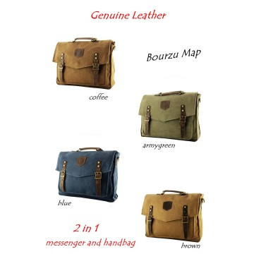 TAS KANVAS SLEMPANG-JINJING BOURZU MAP 2 IN 1 Genuine Leather