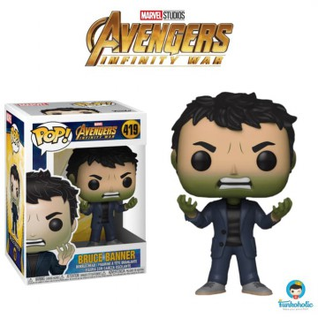 Funko POP! Marvel Avengers Infinity War - Bruce Banner with Hulk Head #419