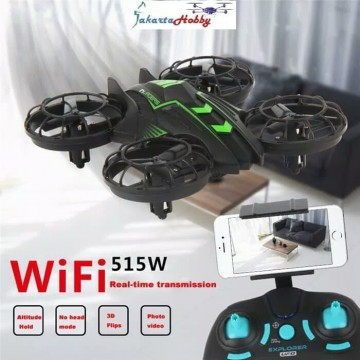 Drone Camera JXD 515W Invaders 0.3MP WIFI FPV W/Altitude Hold Mode RTF