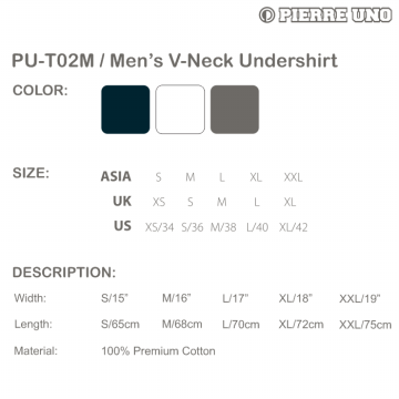 Pierre Uno - Value Pack (3 PCS) x Kaos Dalam Pria - V-Neck Shirt