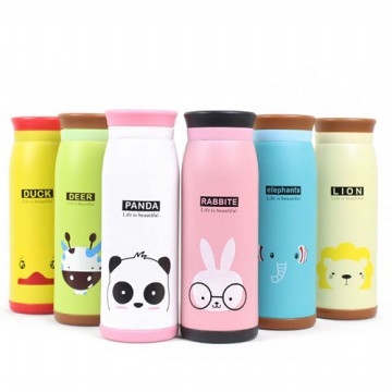 Botol Minum Termos Karakter Animal Stainless Steel 500 ML