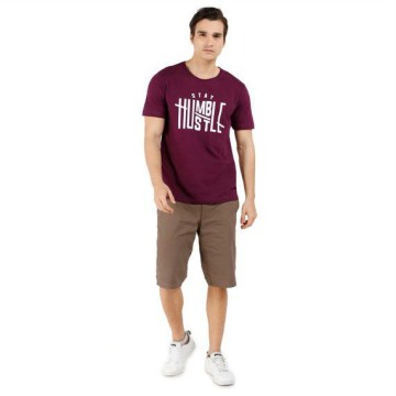 Baju Kaos Pria SS Printed Men Tee - Stay Humble Men Tee