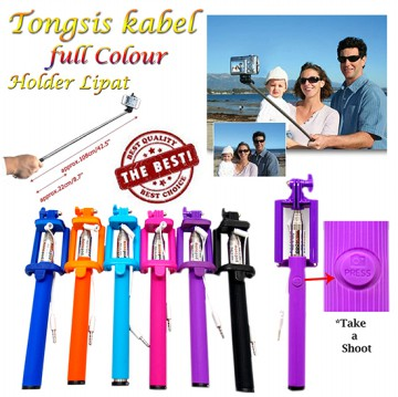 [NEW] Tongsis Kabel Lipat + Holder Putih Bentuk U | Good Quality